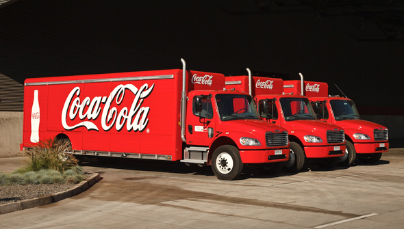 Coca-Cola distribution trucks