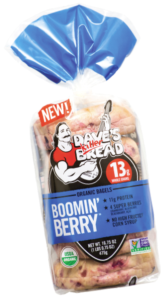Dave's Killer Bread Boomin' Berry Bagels, Flowers Foods
