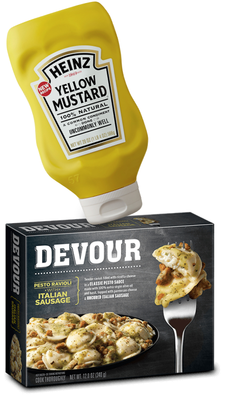 Heinz mustard and Devour frozen meals, Kraft Heinz