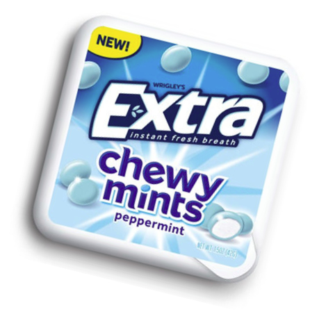 Extra Chewy Mints peppermint, Mars