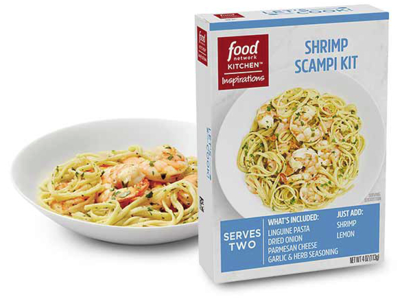 Food Network Kitchen Inspirations Shrimp Scampi meal kit
