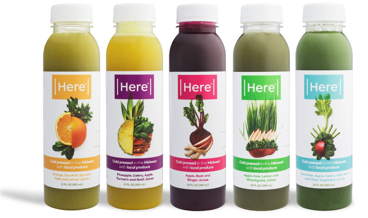 Here cold pressed juices