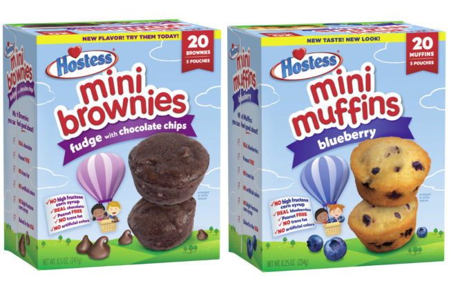 Hostess Mini Muffins and Mini Brownies