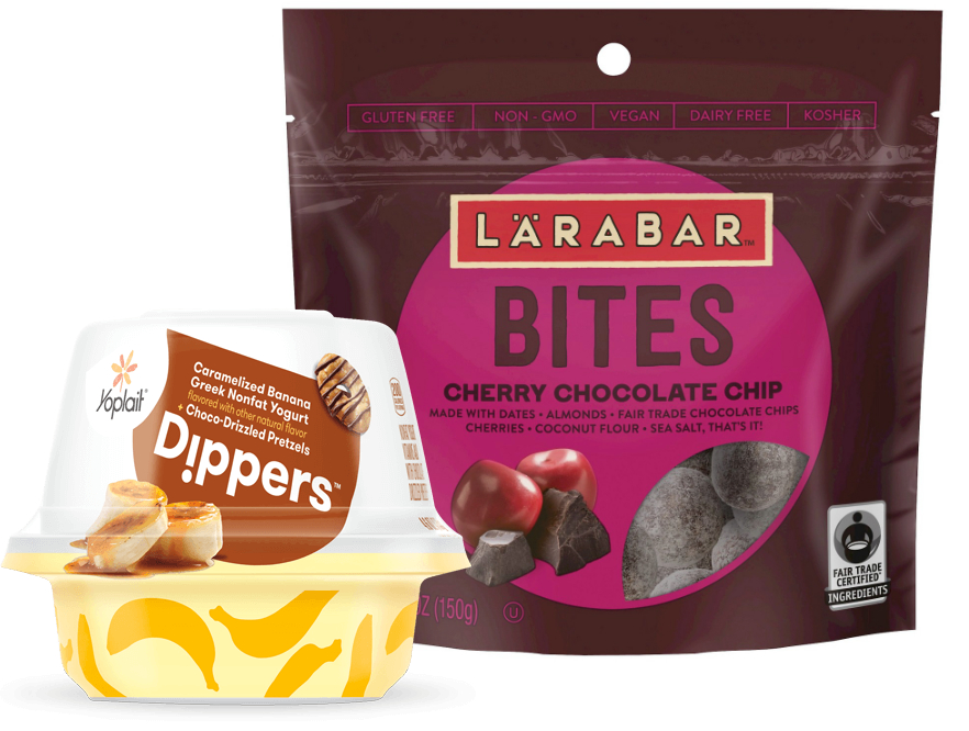 Larabar Bites and Yoplait Dippers, General Mills