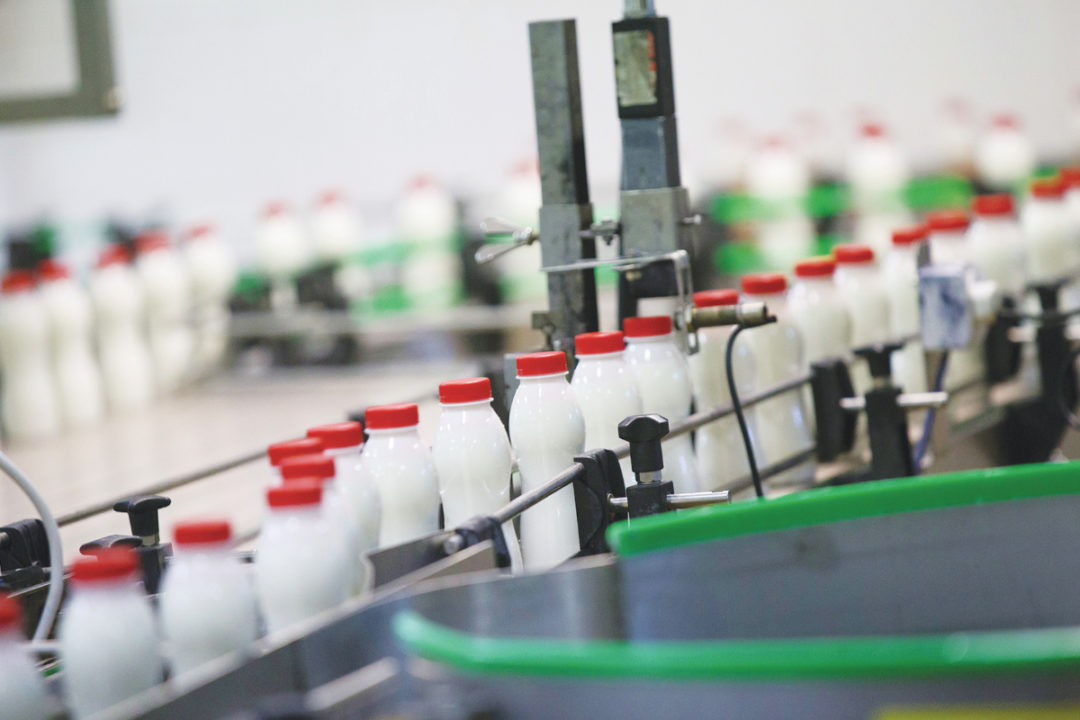Bottled milk production