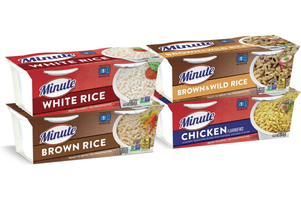 Minute rice new packaging, Riviana Foods