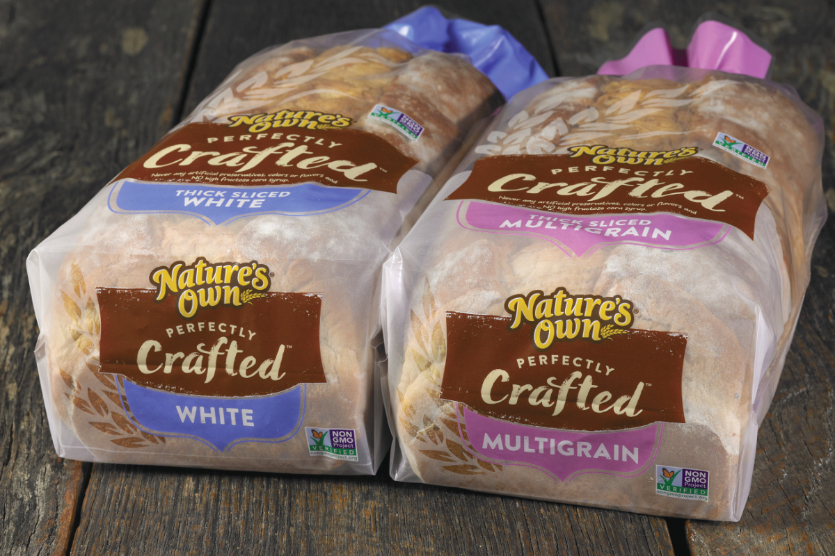 Natures Own Crafted bread, Flowers Foods