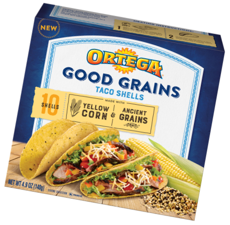Ortega Good Grains taco shells, B&G Foods