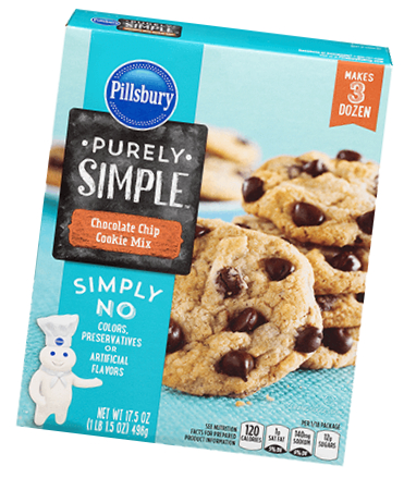 Pillsbury Purely Simple cookie mix