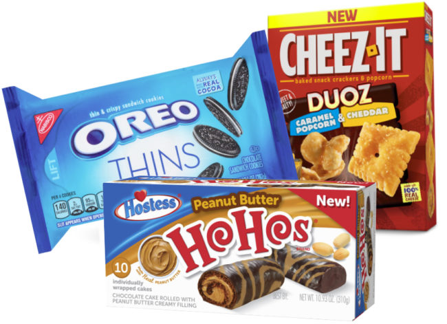 Mondelez, Kellogg, Hostess products