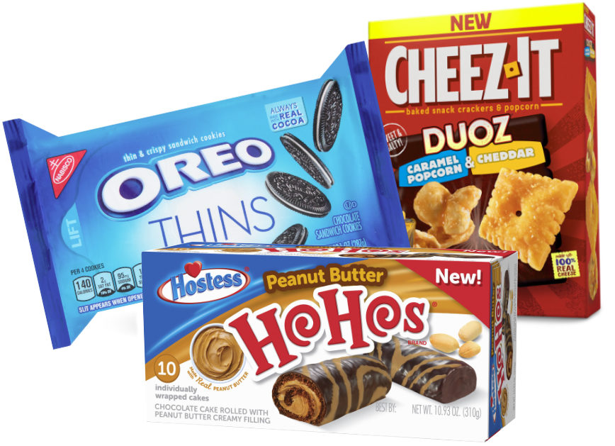 Mondelez, Kellogg, Hostess products