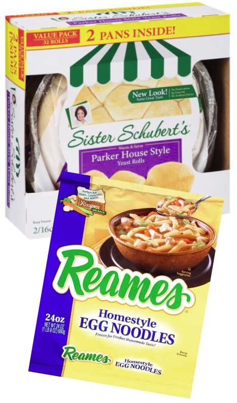Sister Schubert's rolls and Reames Noodles, Lancaster Colony Corp.