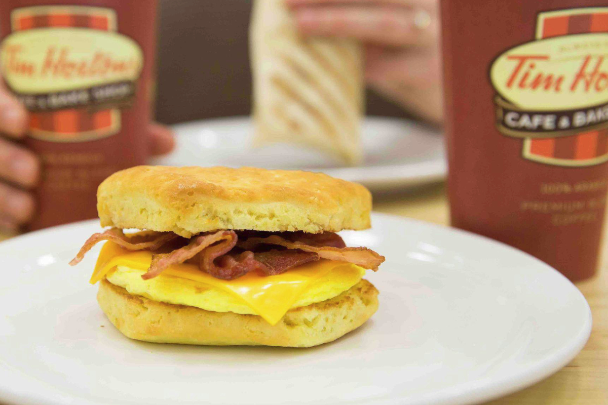 Tim Hortons breakfast sandwich