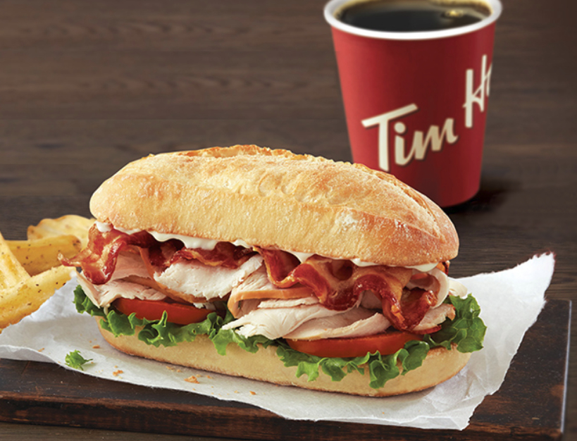 Tim Horton's turkey bacon club