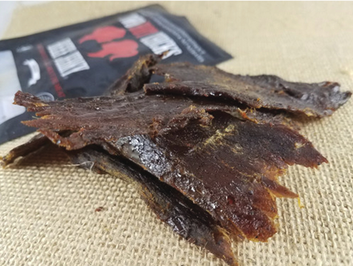Two Chicks Beef Jerky opened
