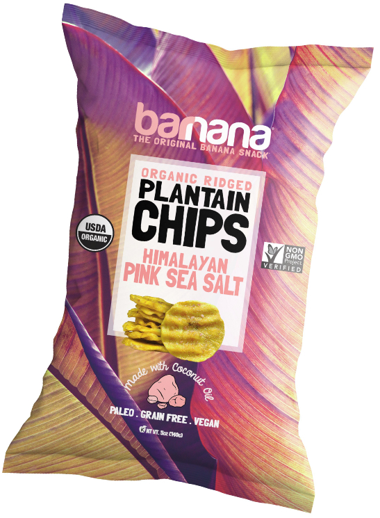 Barnana Himalayan Pink Sea Salt organic ridged plantain chips