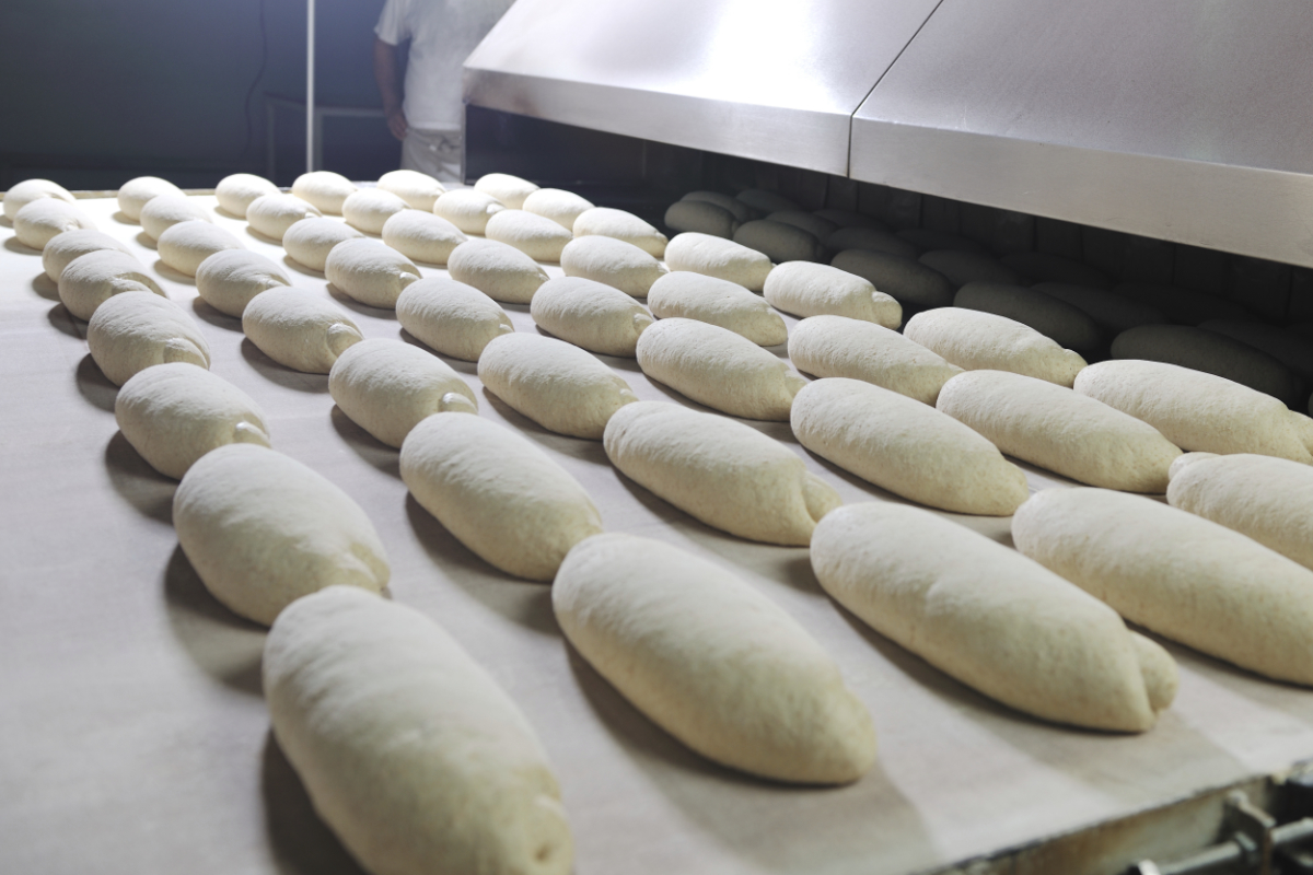 Commercial bread bakery production