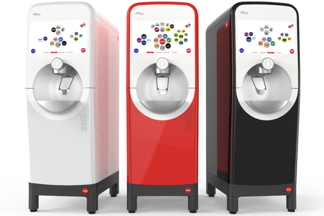 Coca-Cola Freestyle machine with Bluetooth