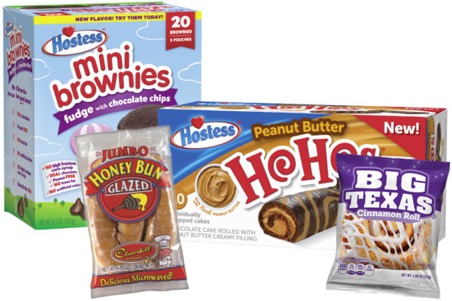 Hostess and Cloverhill Bakery products