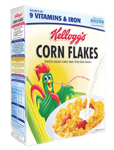 Kellogg's corn flakes cereal in Africa