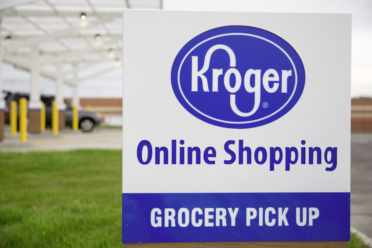 Kroger online shopping pickup sign