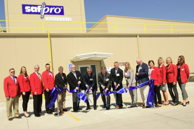 Lesaffre blending facility ribbon cutting