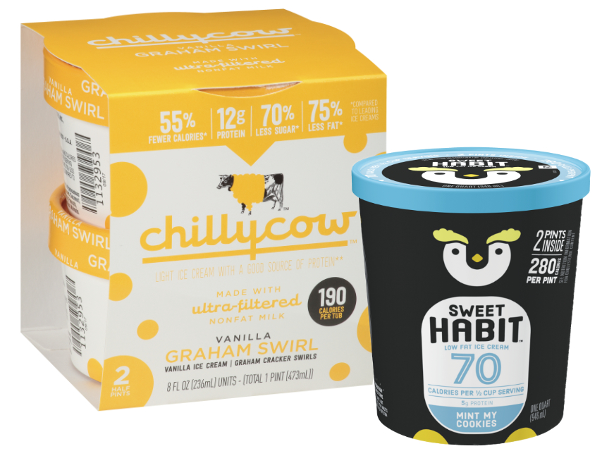 High protein, low calorie ice cream from Chilly Cow and Sweet Habits