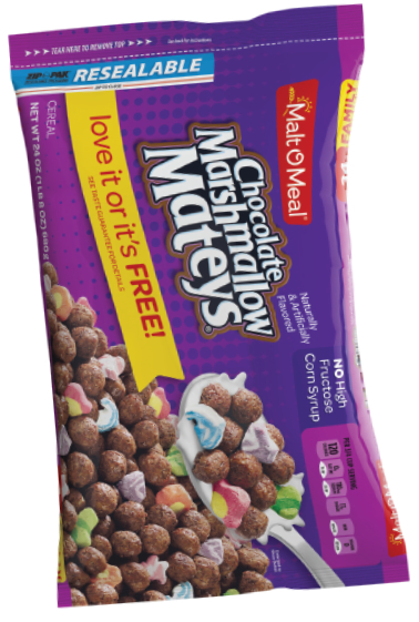 Malt-O-Meal Marshmallow Mateys cereal, Post Holdings