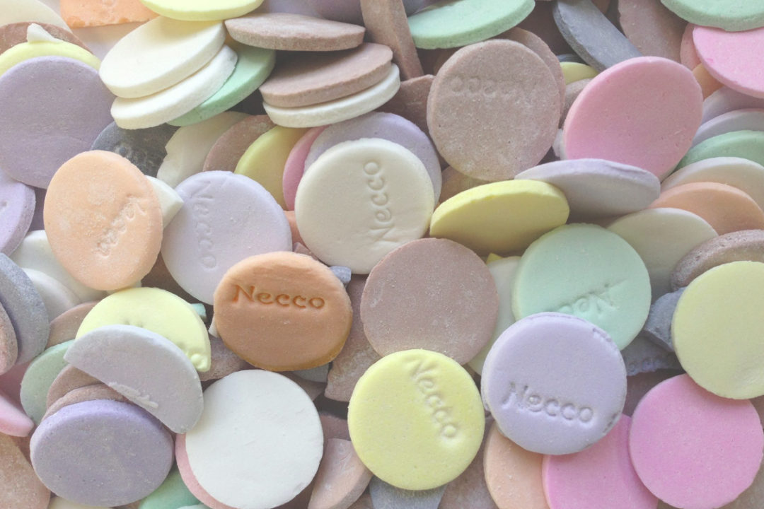 Necco wafers pile