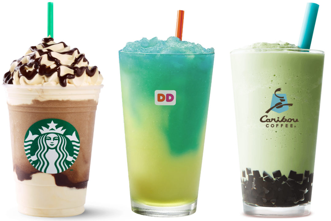 New beverages from Starbucks, Dunkin' Donuts and Caribou Coffee