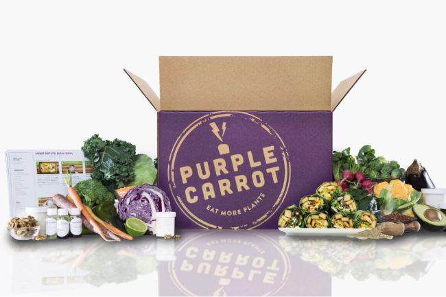 Purple Carrot meal kit box