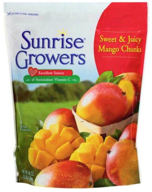 Sunrise Growers frozen fruit, SunOpta