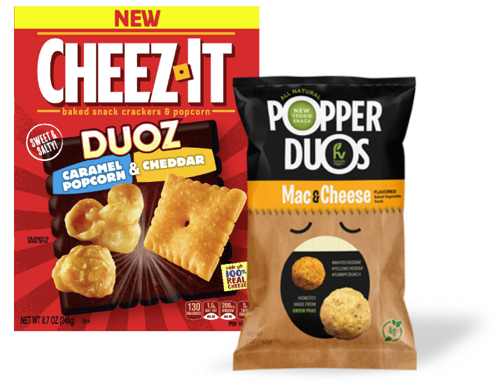Sweets & Snacks Dynamic duos - Cheez-It and Popper Duos