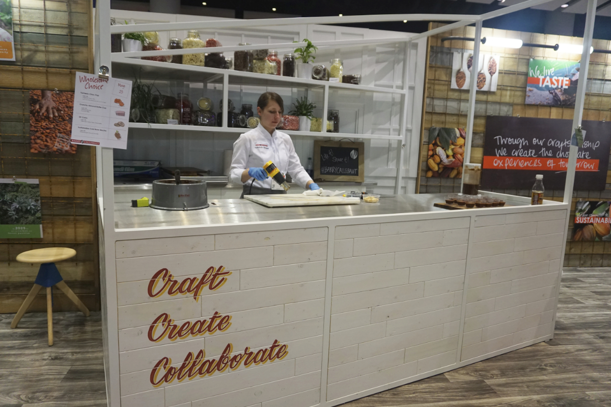 Barry Callebaut booth at Sweets & Snacks Expo 2018