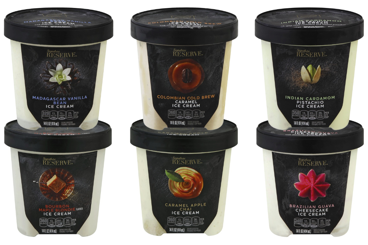 Signature Reserve ice cream, Albertsons