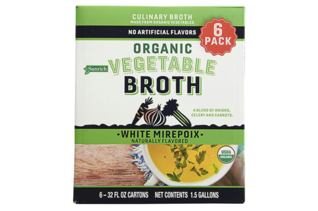Sunrich vegetable broth, SunOpta