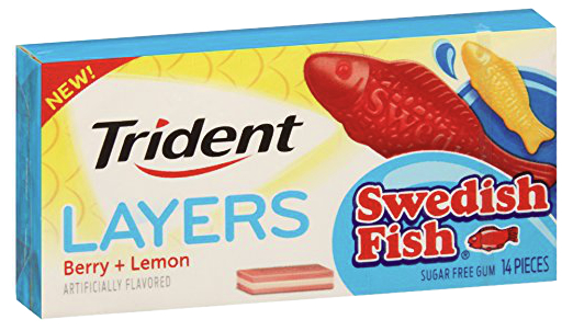Trident Layers Swedish Fish gum, Mondelez