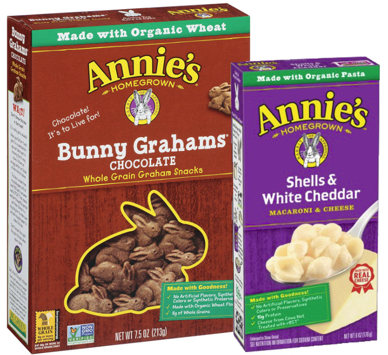 Annie's mac and cheese and bunny grahams, General Mills