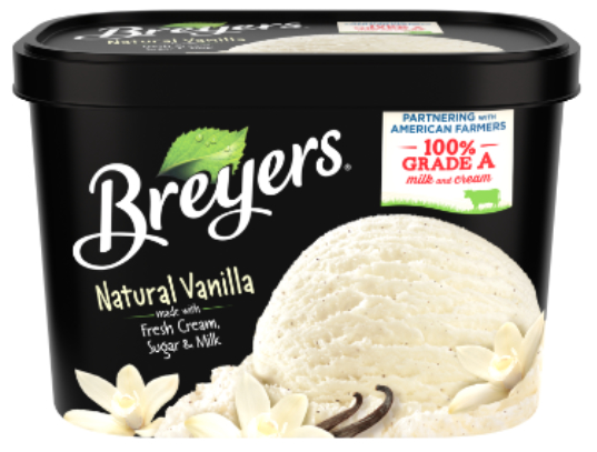 Breyers vanilla ice cream