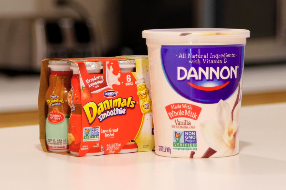 Danone non-G.M.O. Dannon and Danimals yogurt