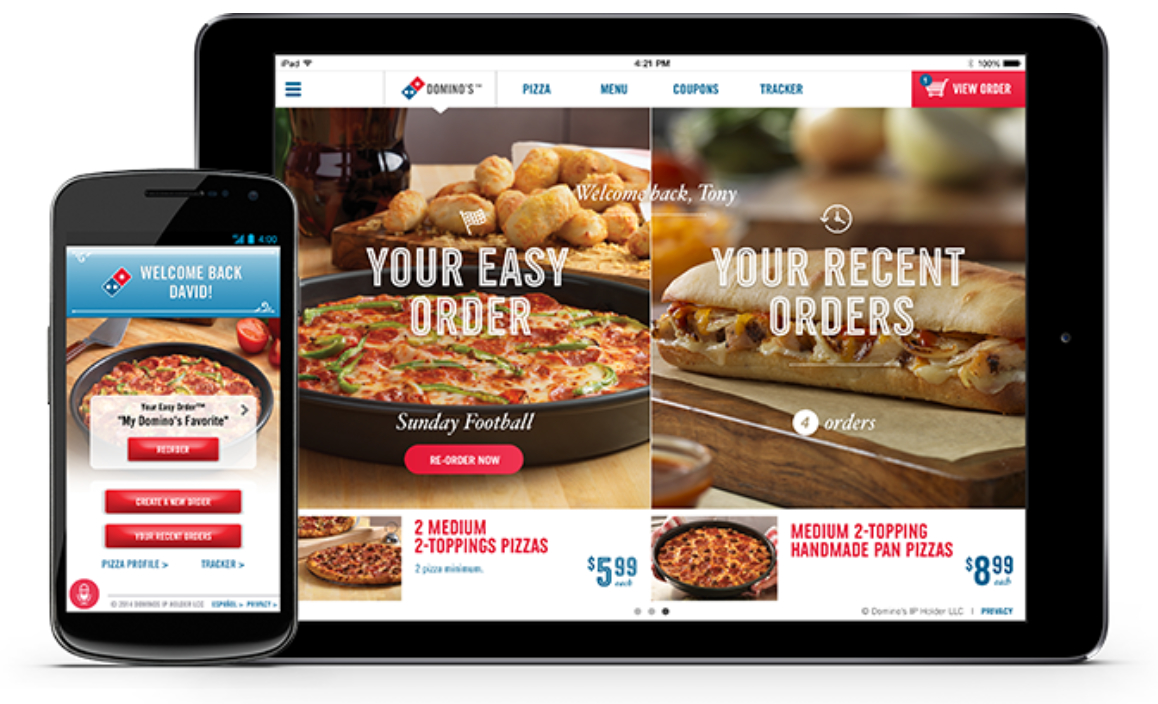 Domino's Pizza mobile ordering and loyalty program