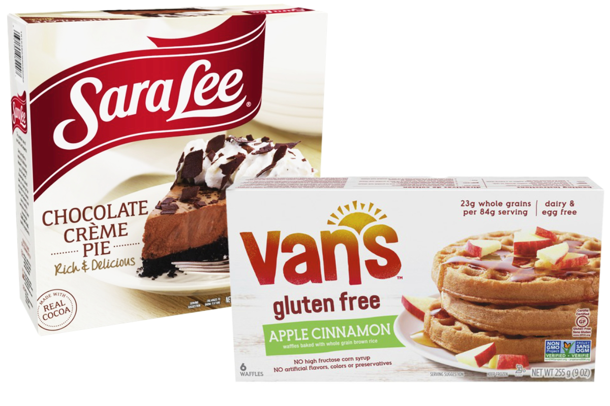 Sara Lee frozen pie and Vans gluten-free frozen waffles, Tyson Foods