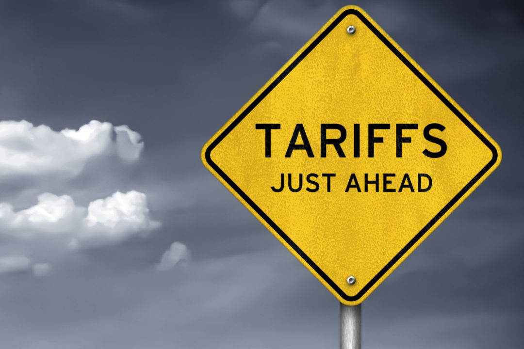 Tariffs sign