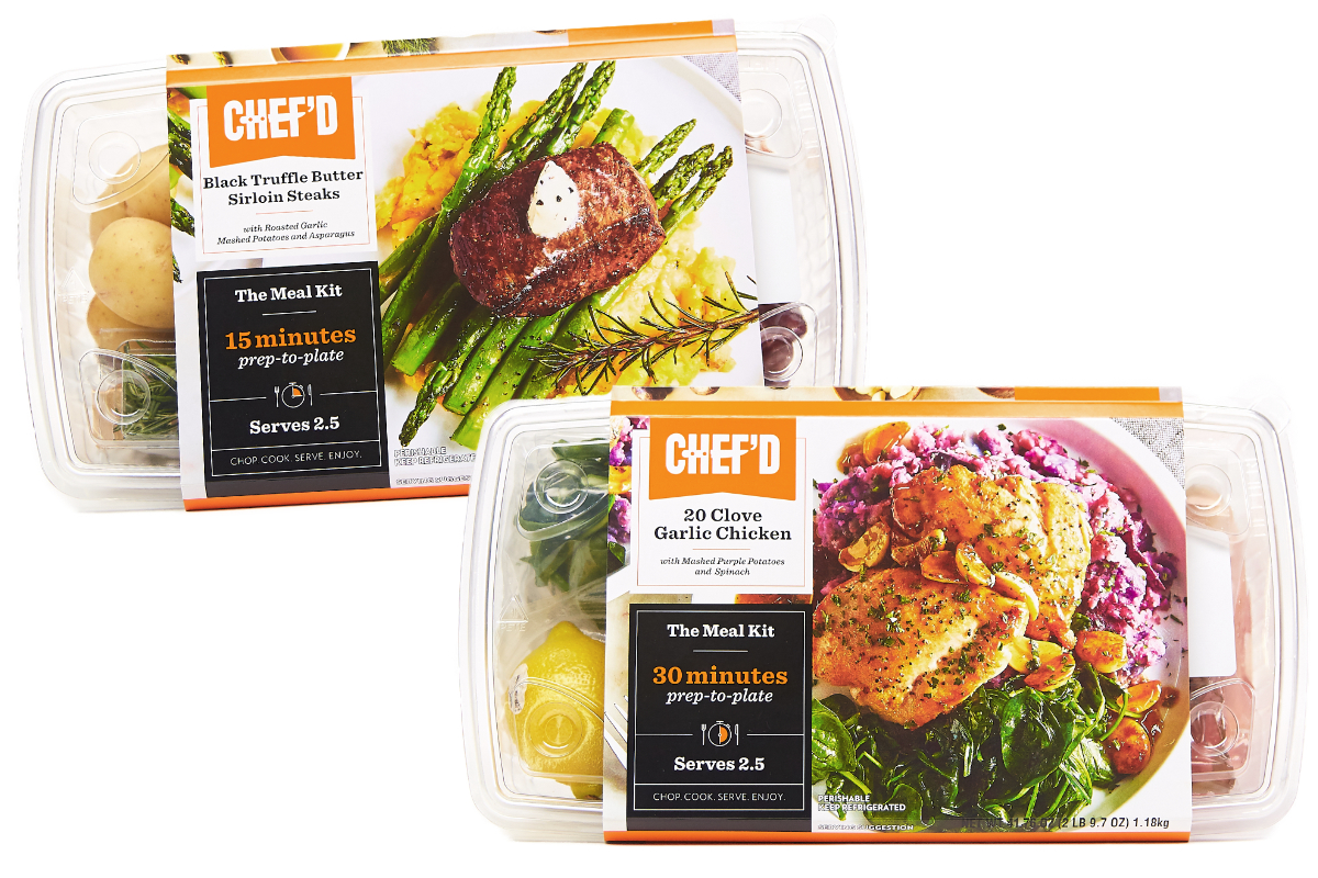 Chef'd retail meal kits