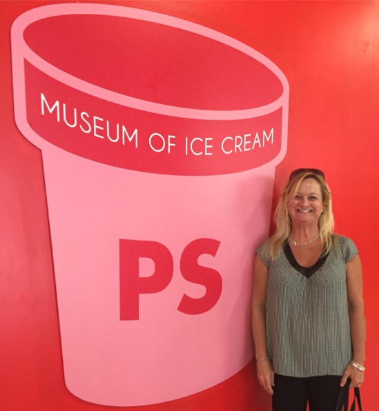 Donna Berry at the ice cream museum