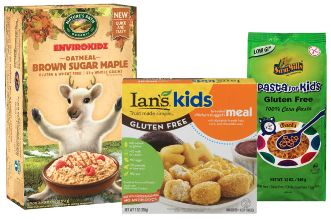 Gluten-free products for children