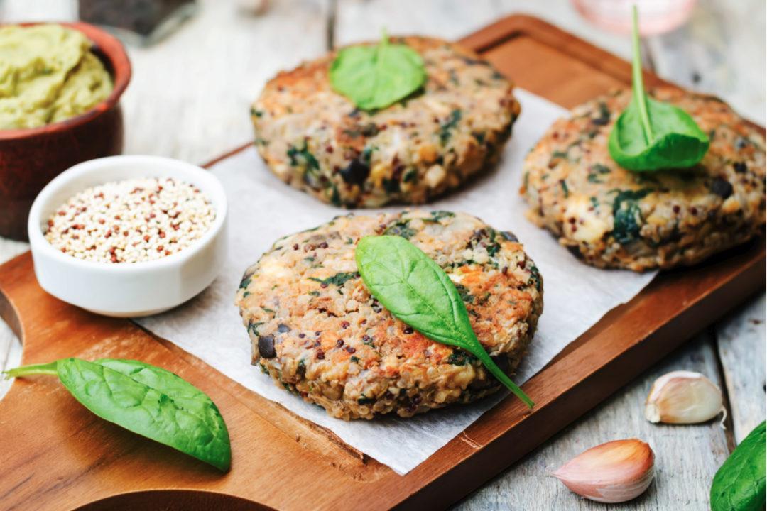 Meat alternative patties