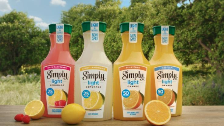 Simply Light lemonades