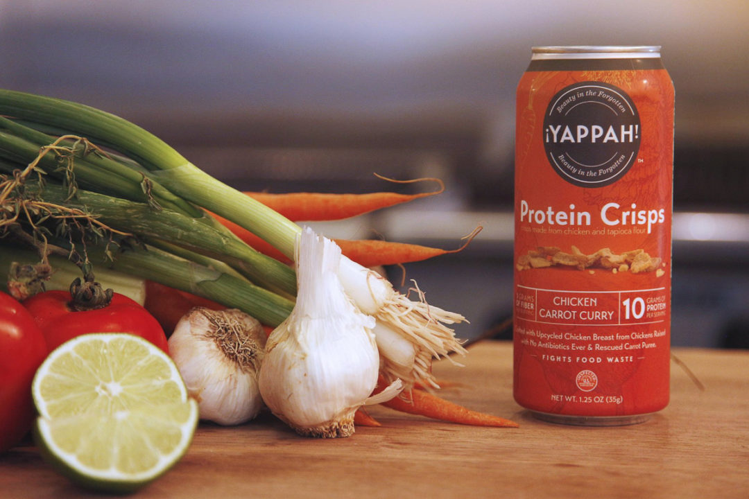 Yappah! chicken carrot curry protein crisps, Tyson Foods