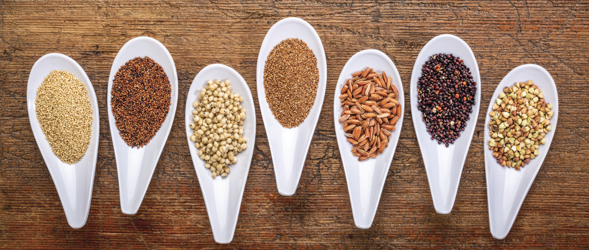 Spoons of ancient grains
